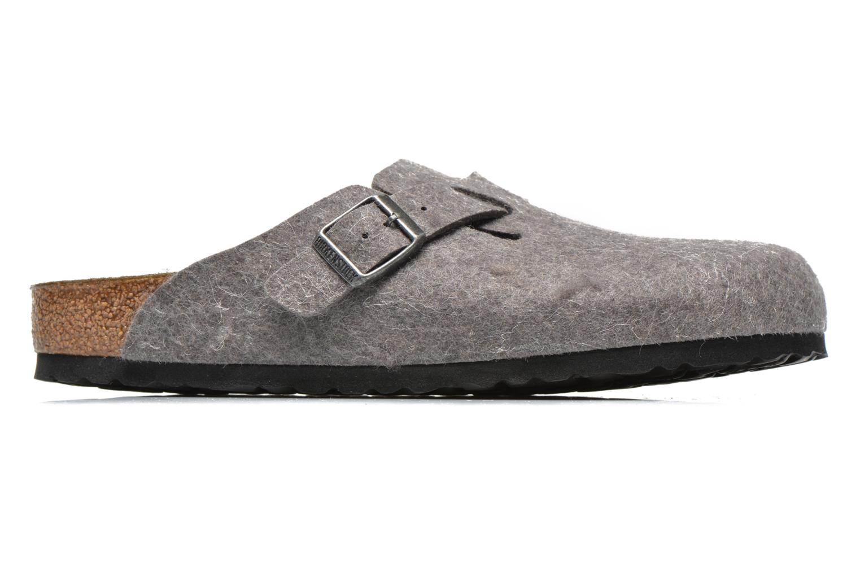 Sandales et nu-pieds Birkenstock Boston Laine M Gris vue derrière