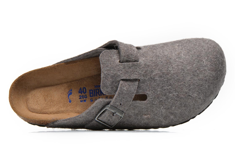 Sandales et nu-pieds Birkenstock Boston Laine M Gris vue gauche