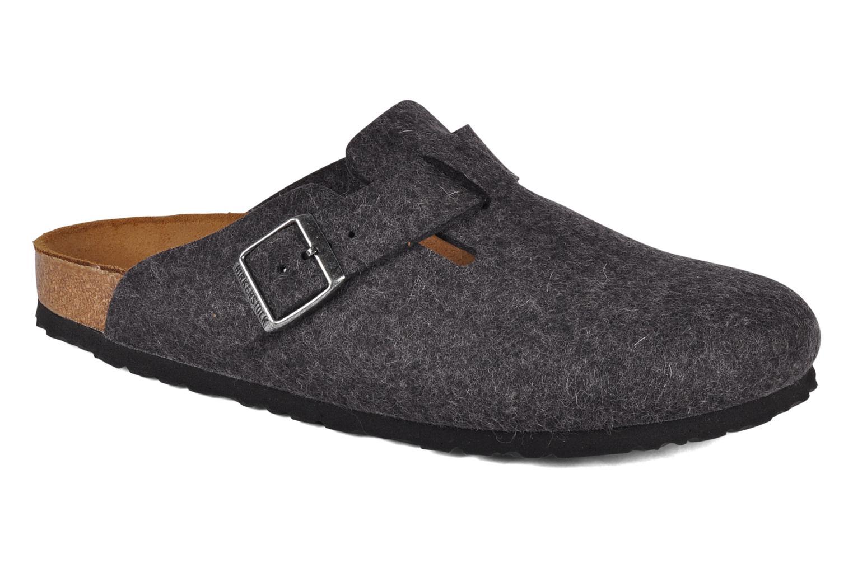 Newest Birkenstock Boston Laine M Grey Mens Slippers Outlet UK0314