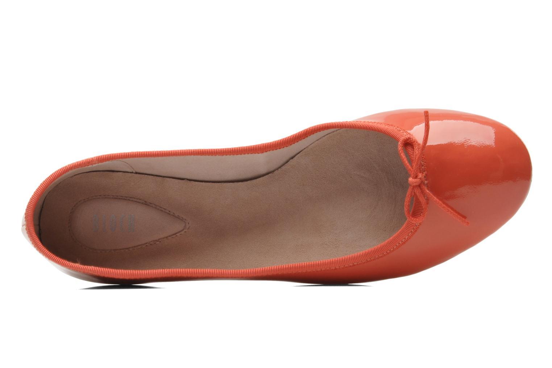 Ballerina's Bloch Patent ballerina Oranje links