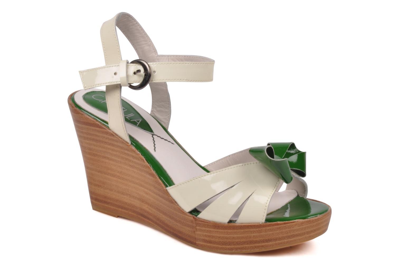 Sandales et nu-pieds C.Petula Pink lady Blanc vue détail/paire
