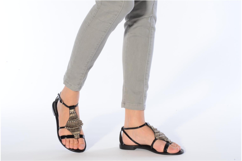 Sandales et nu-pieds JB MARTIN Allen Noir vue bas / vue portée sac