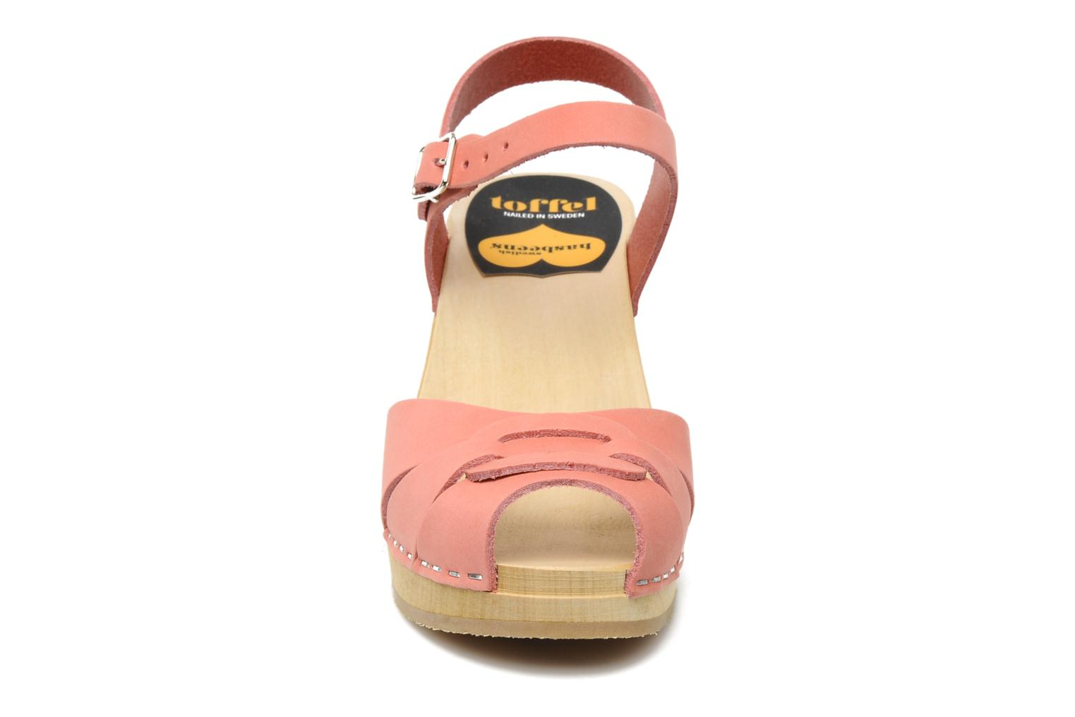 Sandals Swedish Hasbeens Peep toe super high Pink model view