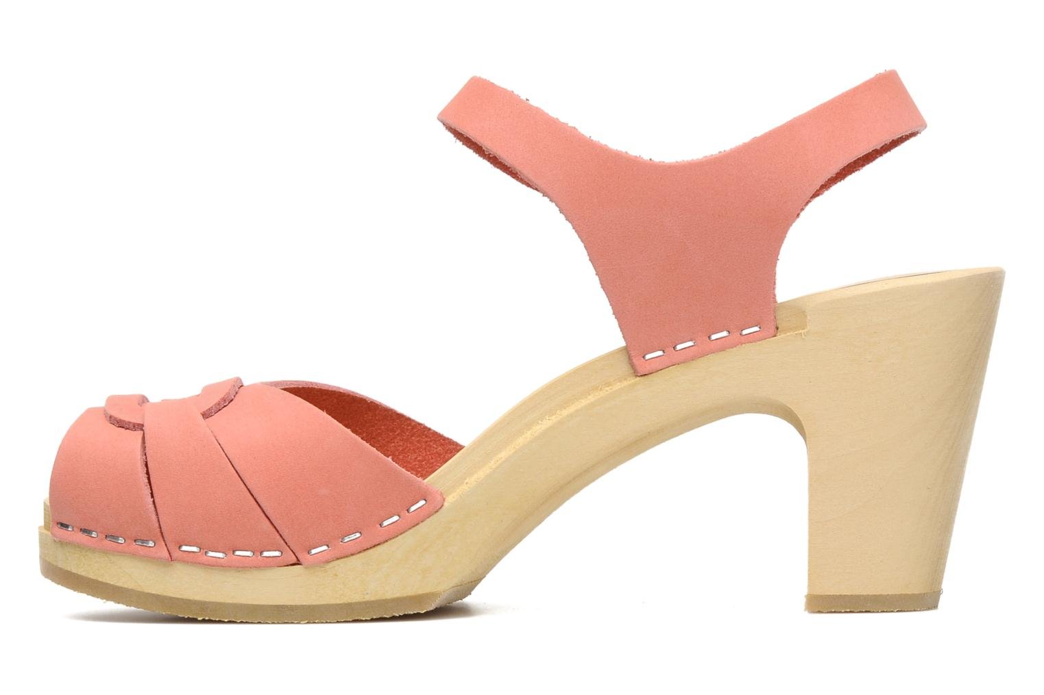 Sandals Swedish Hasbeens Peep toe super high Pink front view