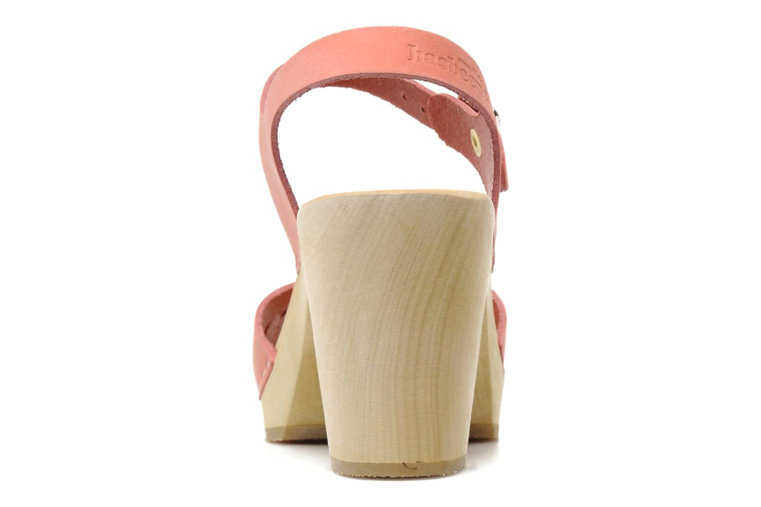 Sandals Swedish Hasbeens Peep toe super high Pink view from the right