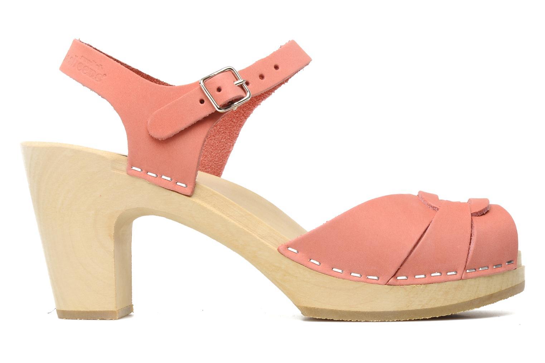 Sandals Swedish Hasbeens Peep toe super high Pink back view