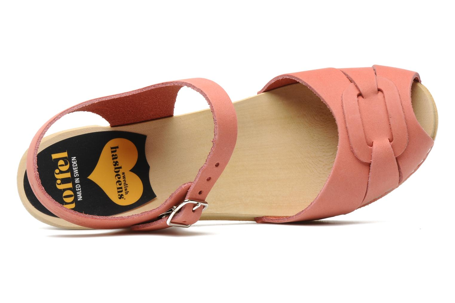 Sandals Swedish Hasbeens Peep toe super high Pink view from the left