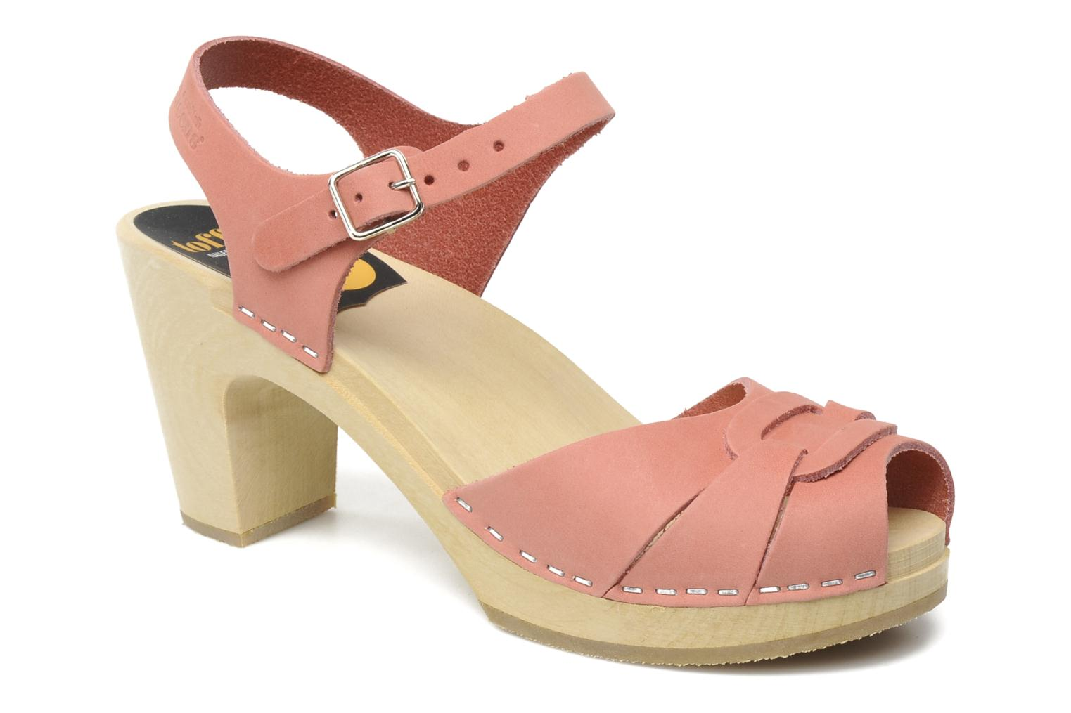 Sandals Swedish Hasbeens Peep toe super high Pink detailed view/ Pair view