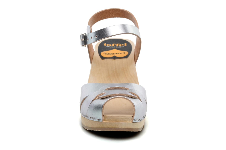 Sandalen Swedish Hasbeens Peep toe super high Zilver model