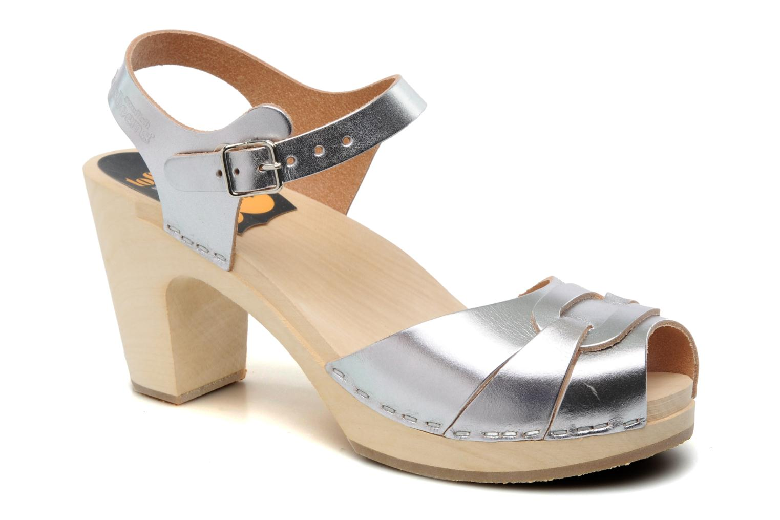 Sandalen Swedish Hasbeens Peep toe super high Zilver detail