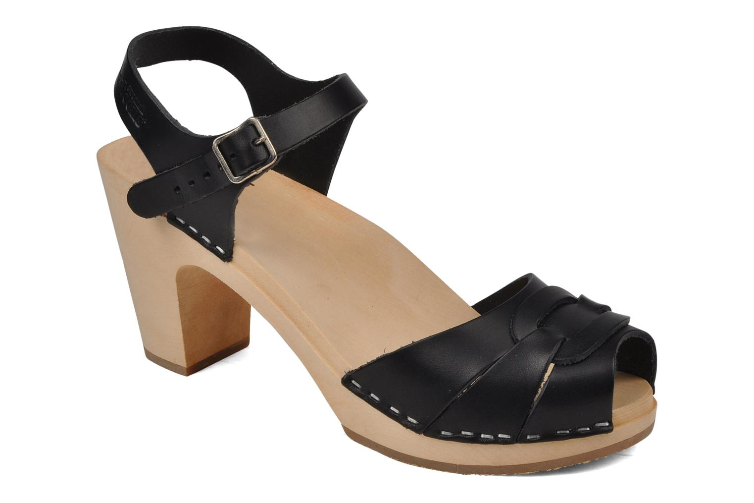 Sandalen Swedish Hasbeens Peep toe super high Zwart detail