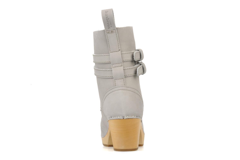 Bottines et boots Swedish Hasbeens Combat boot Gris vue droite