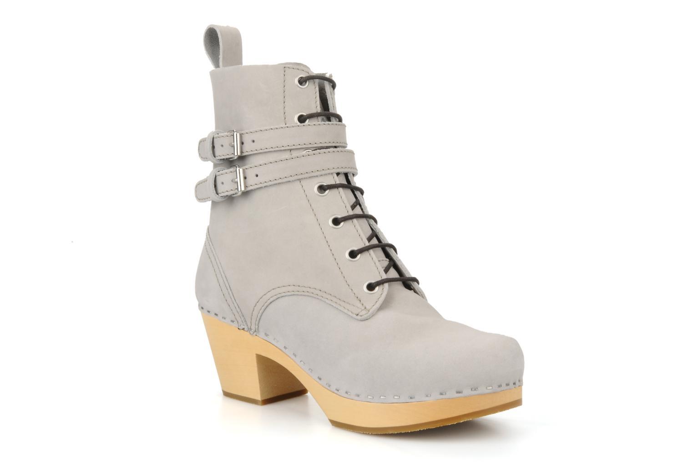 Bottines et boots Swedish Hasbeens Combat boot Gris vue détail/paire