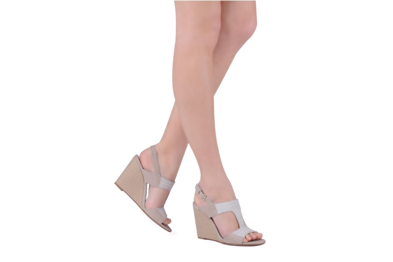 Sandales et nu-pieds Boss Black Page Beige vue bas / vue portée sac