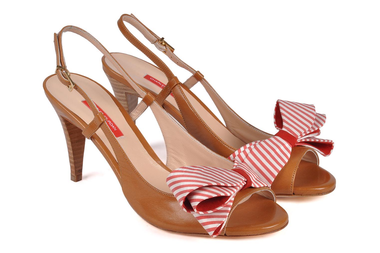 Sandals Charles Jourdan Scarlett Red 3/4 view