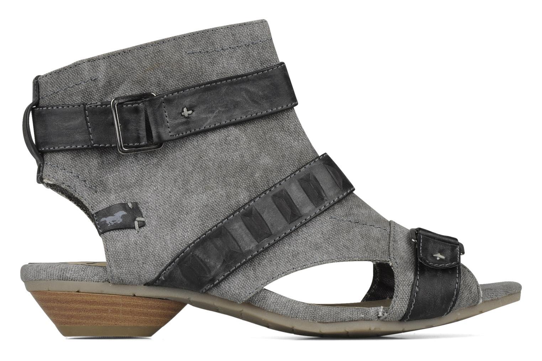 Sandalen Mustang shoes Xeba grau ansicht von hinten