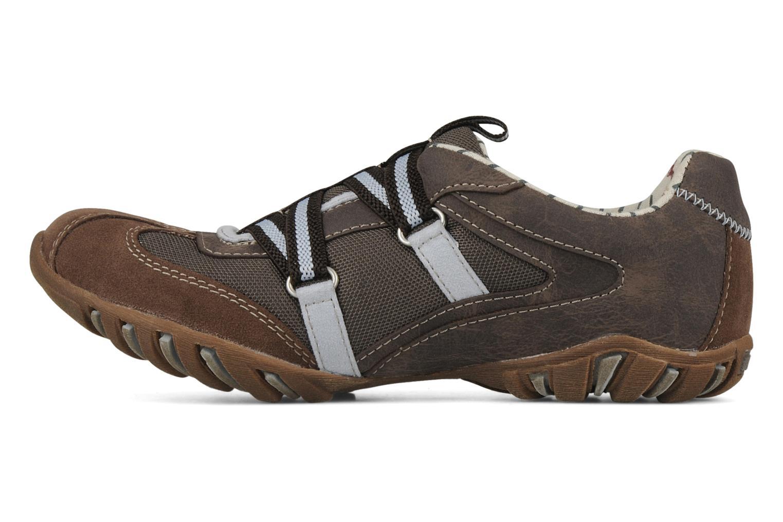 Sneakers Mustang shoes Bache Bruin voorkant