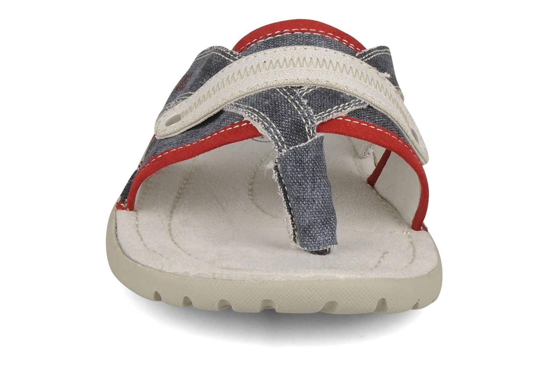 Zehensandalen Mustang shoes Criollo blau schuhe getragen