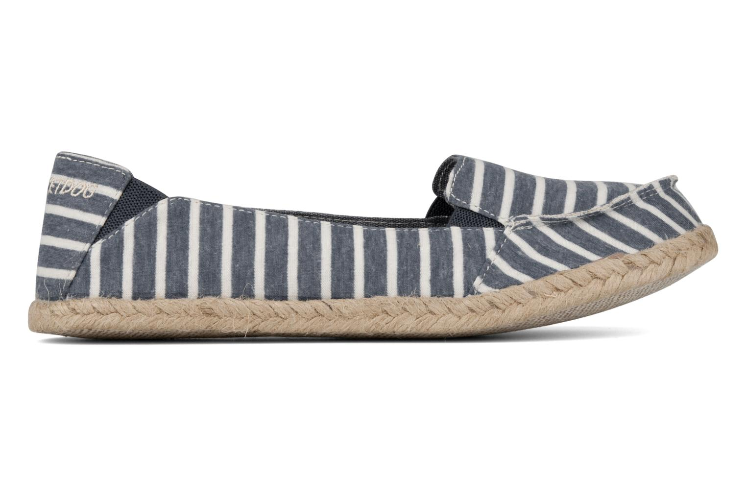 Espadrilles Rocket Dog Clover seaside stripe Blue back view