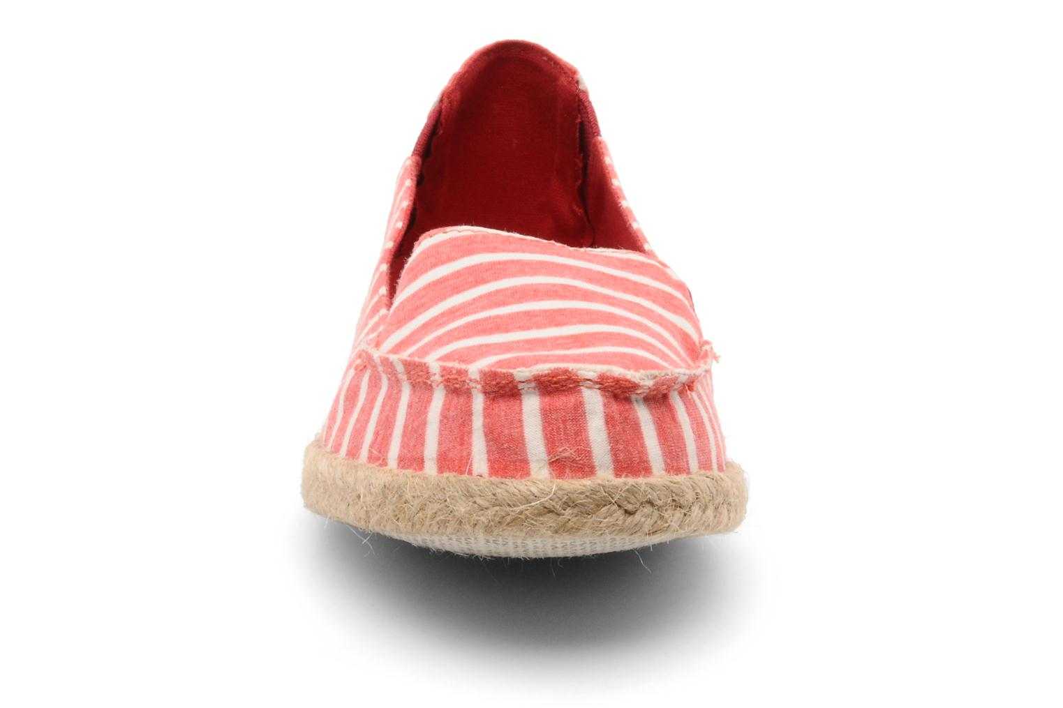 Espadrilles Rocket Dog Clover seaside stripe Rood model
