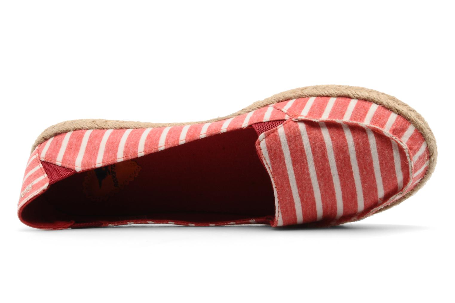Espadrilles Rocket Dog Clover seaside stripe Red view from the left