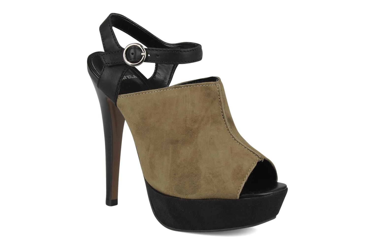 Sandals Carvela Acoustic Green detailed view/ Pair view