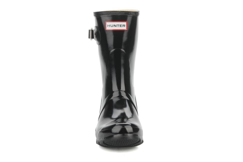 Boots Hunter Hunter original short gloss w Svart bild av skorna på