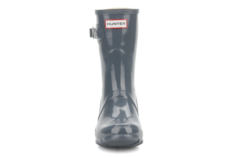 Bottines et boots Hunter Original short gloss Gris vue portées chaussures
