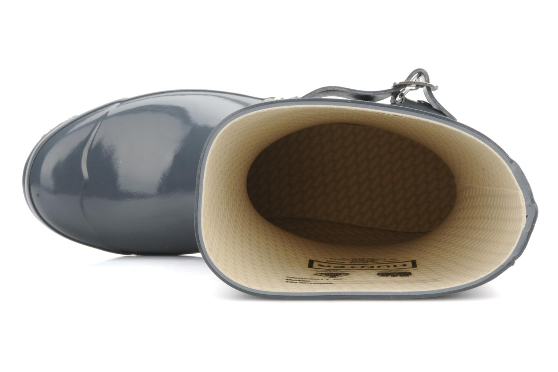 Bottines et boots Hunter Original short gloss Gris vue gauche