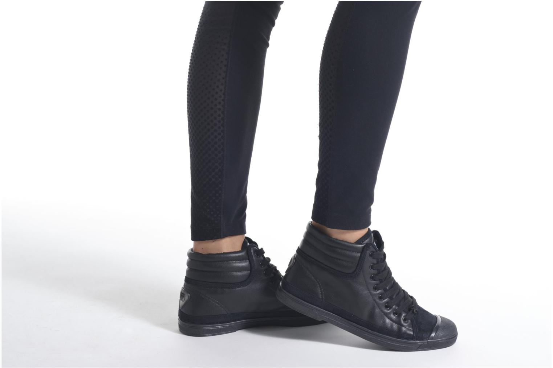 Sneaker Le temps des cerises Basic 03 lila ansicht von unten / tasche getragen