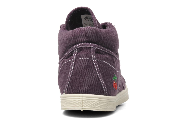 Sneaker Le temps des cerises Basic 03 lila ansicht von rechts