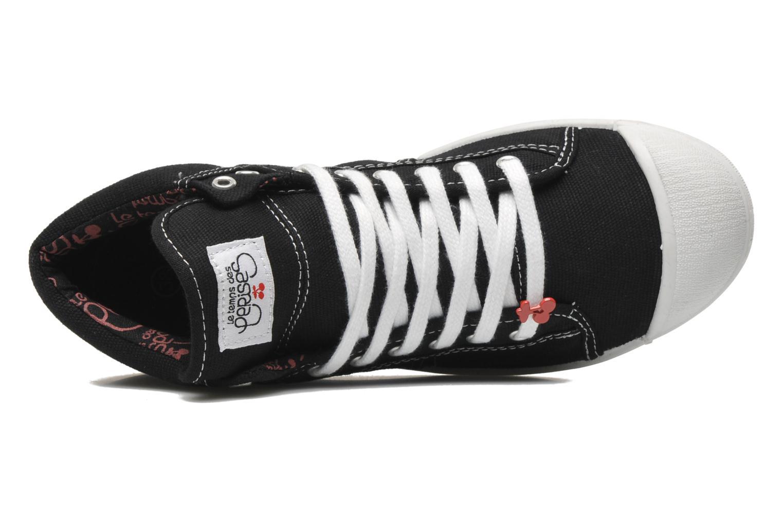 Sneaker Le temps des cerises Basic 03 schwarz ansicht von links