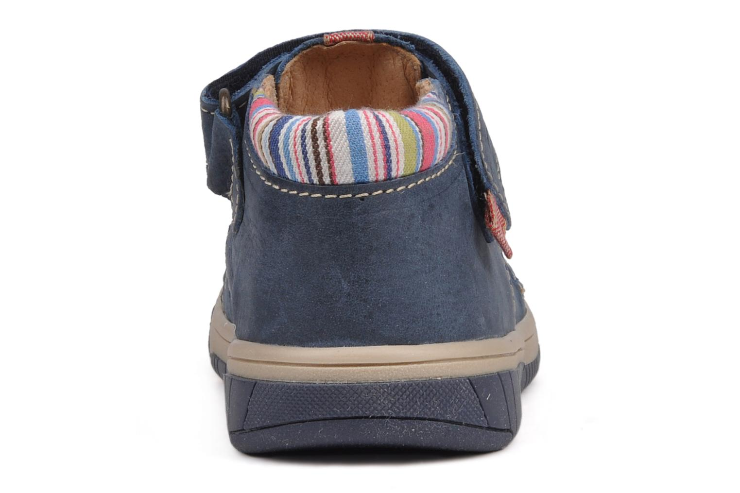 Summer boots Babybotte Safari Blue view from the right