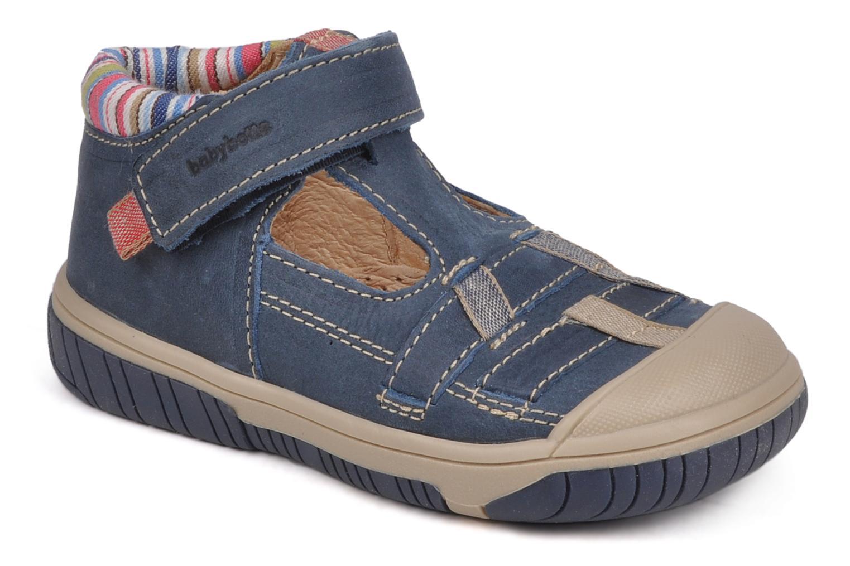 Summer boots Babybotte Safari Blue detailed view/ Pair view