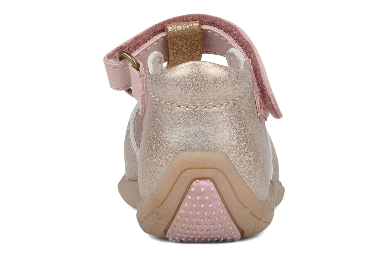 Sandals Babybotte Trezor Bronze and Gold view from the right