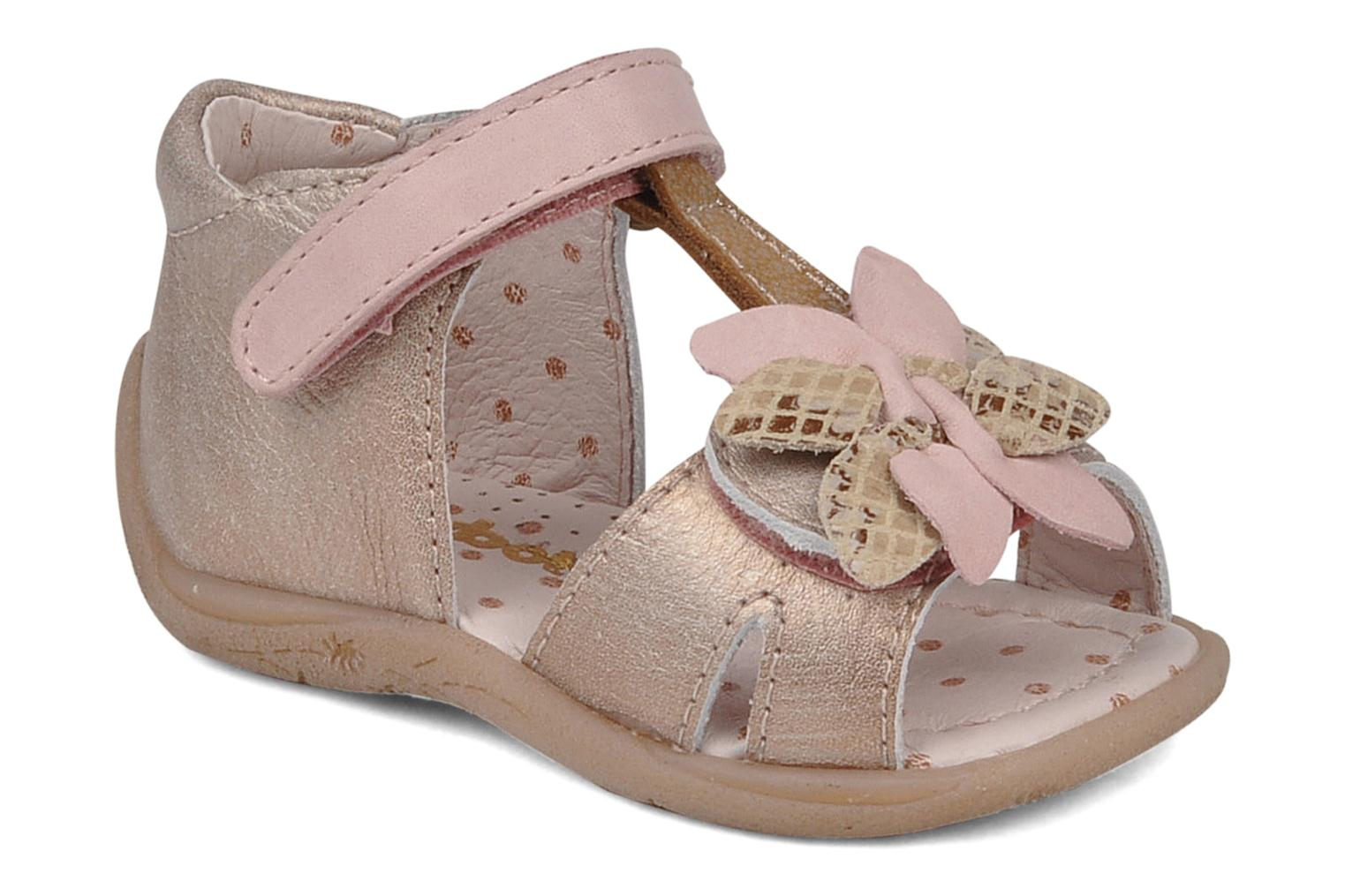 Sandals Babybotte Trezor Bronze and Gold detailed view/ Pair view