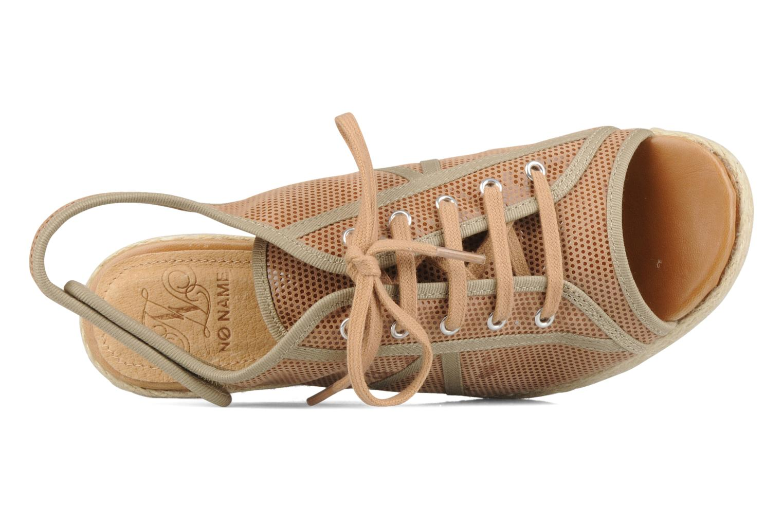 Sandals No Name Malaga tennis city Beige view from the left