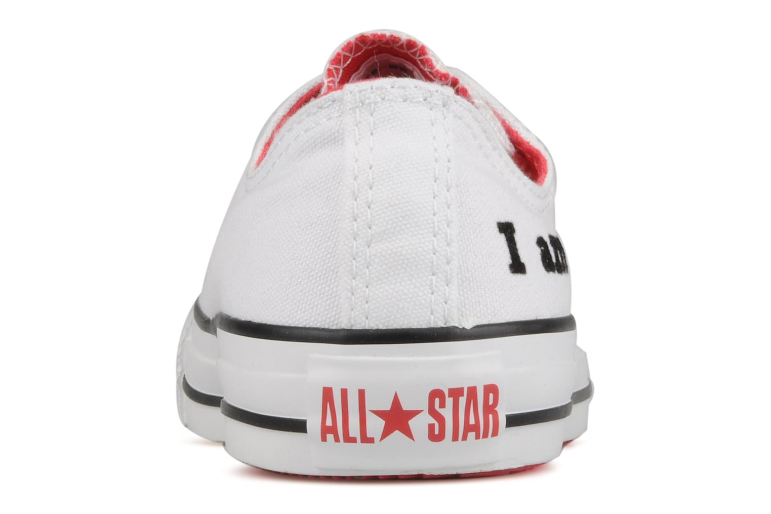 Trainers Converse Chuck taylor all star red i am … ox w White view from the right
