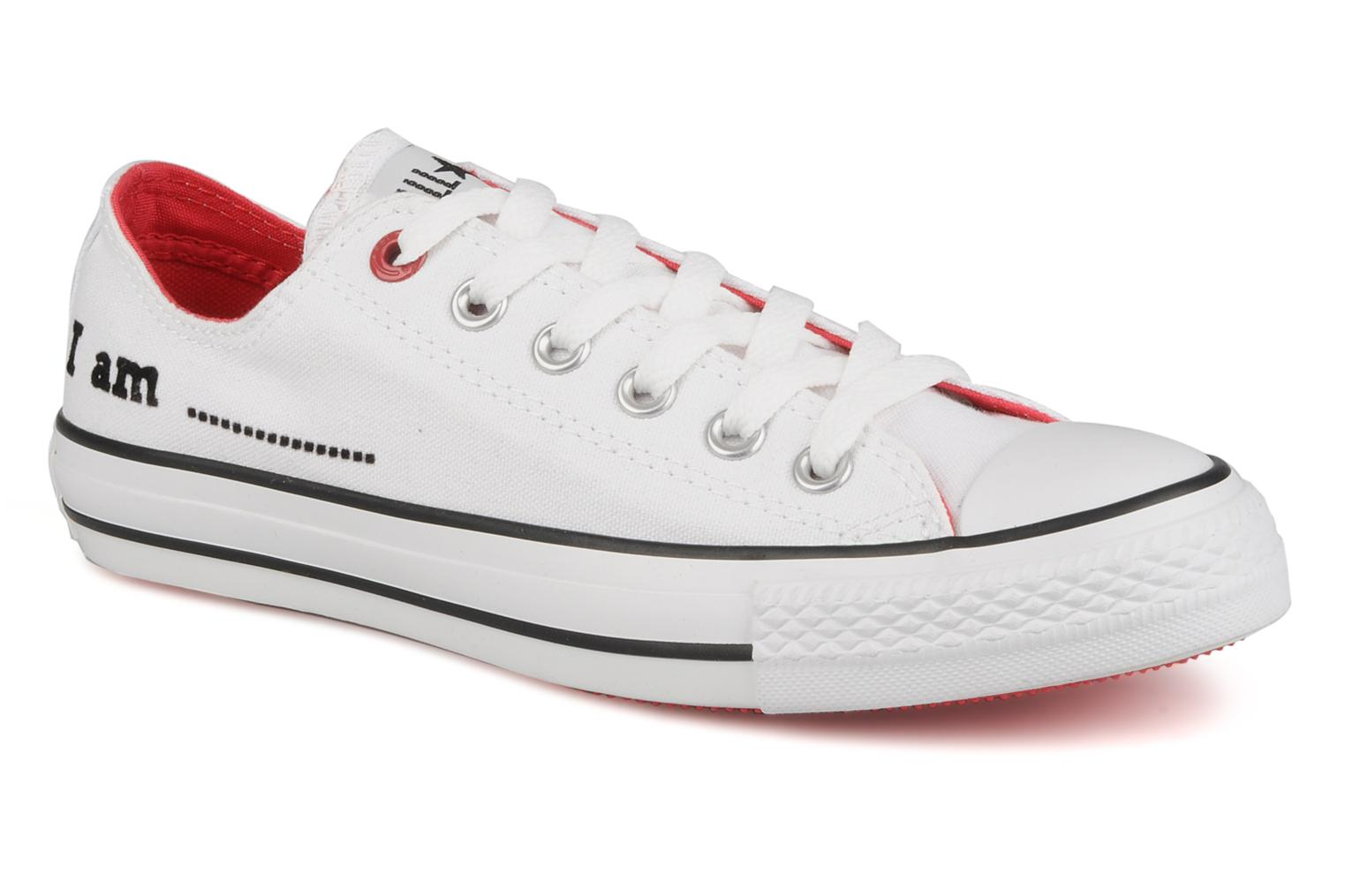 Trainers Converse Chuck taylor all star red i am … ox w White detailed view/ Pair view