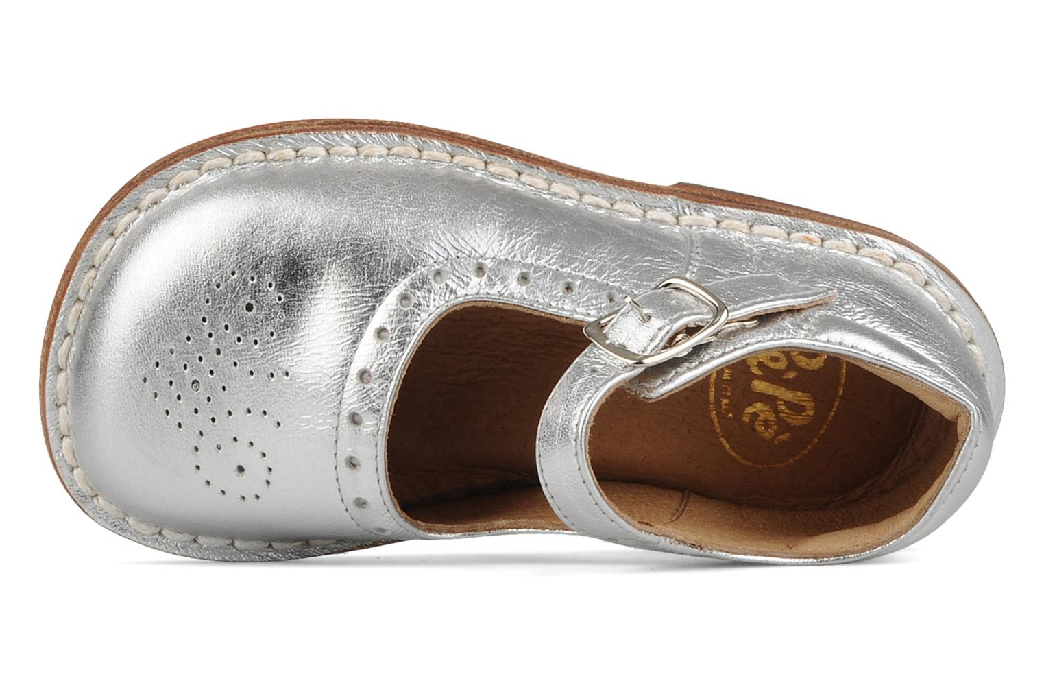 Ballet pumps PèPè Dolly Silver view from the left