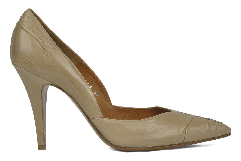 High heels Michel Perry Nemesis Beige back view