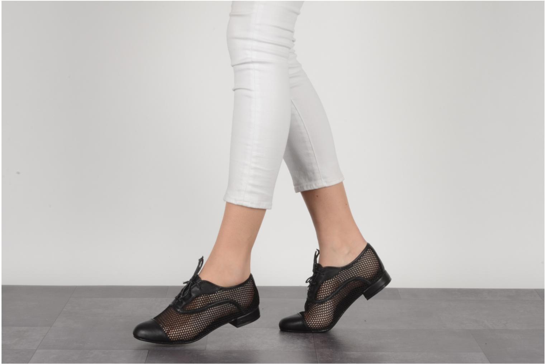 Lace-up shoes Pour La Victoire Morina Black view from underneath / model view
