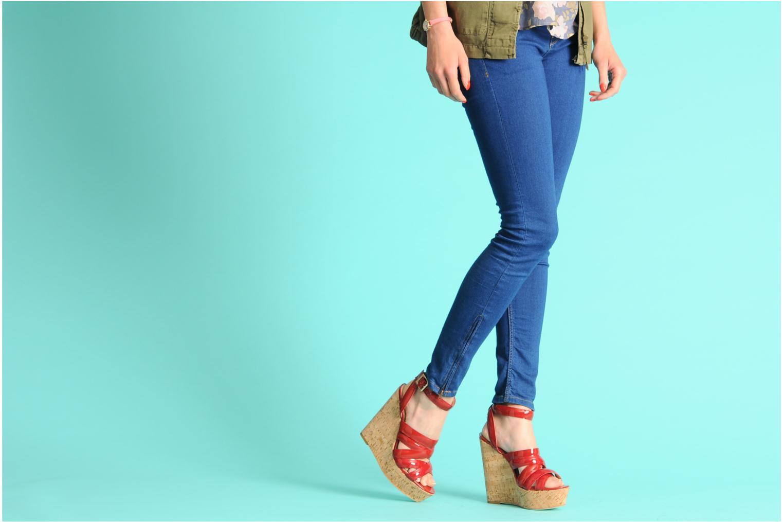 Sandales et nu-pieds Pour La Victoire Jessie Rouge vue bas / vue portée sac