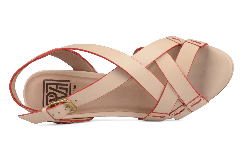 Sandales et nu-pieds Pour La Victoire Abigail Beige vue gauche
