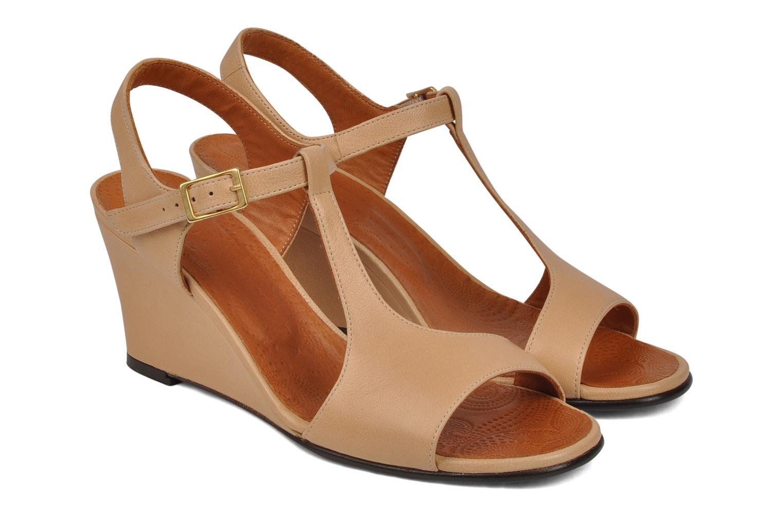 Sandals Chie Mihara Reparto Beige 3/4 view