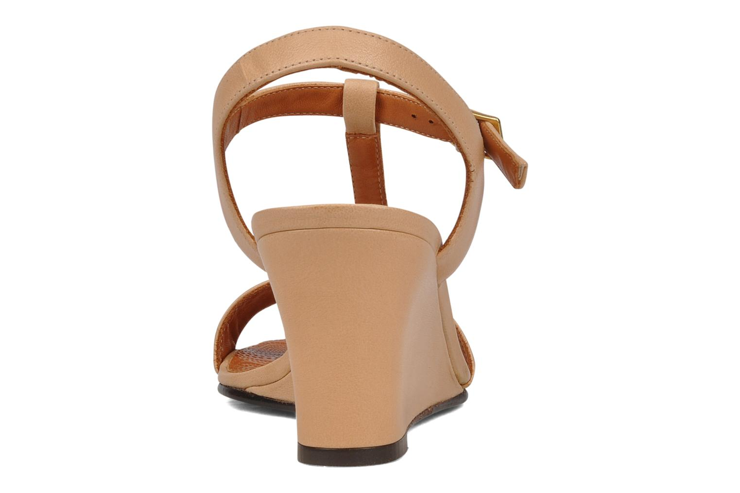 Sandals Chie Mihara Reparto Beige view from the right