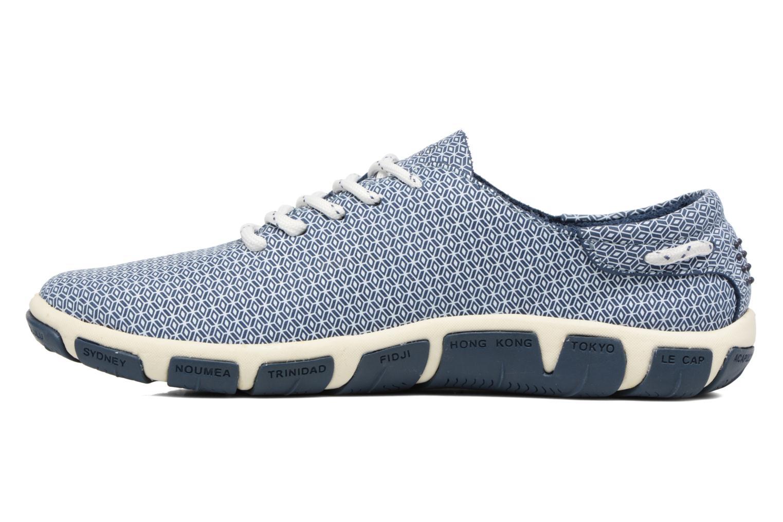 Lace-up shoes TBS Jazaru Blue front view