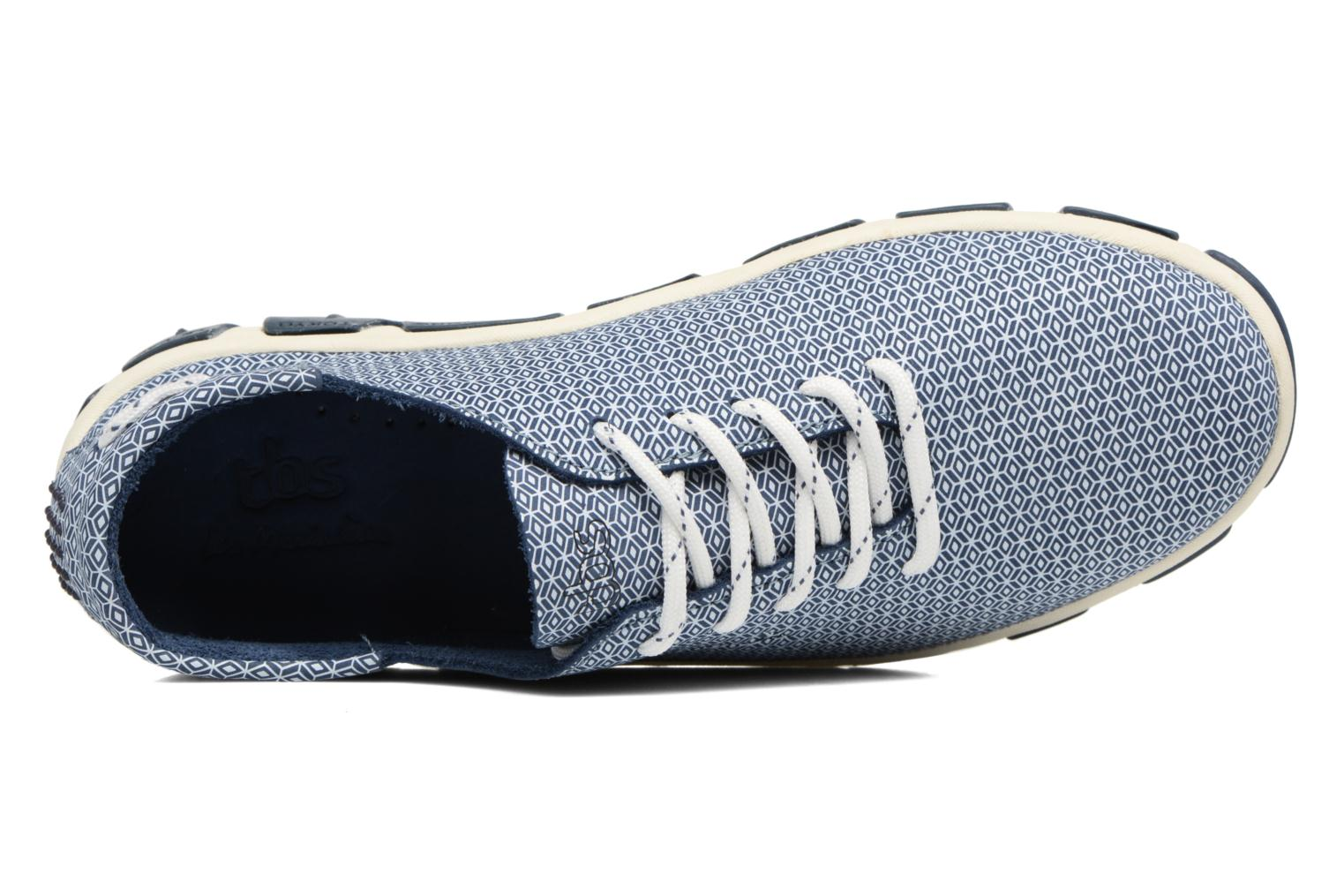Lace-up shoes TBS Jazaru Blue view from the left