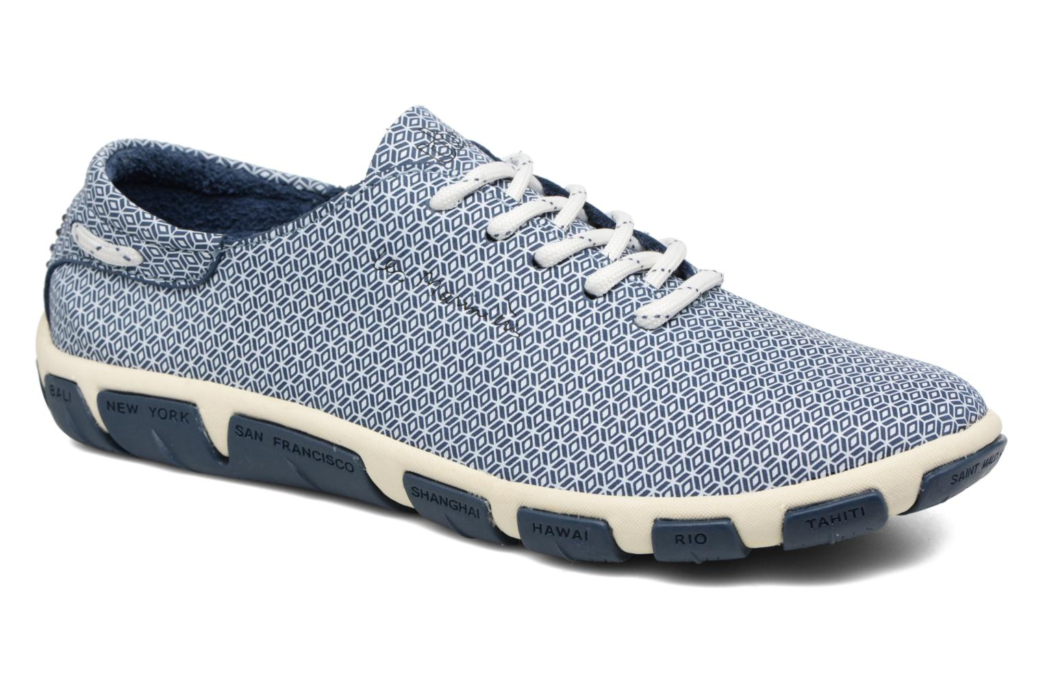 Lace-up shoes TBS Jazaru Blue detailed view/ Pair view