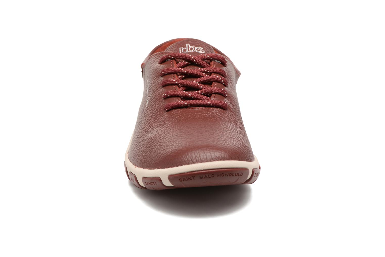 Lace-up shoes TBS Jazaru Burgundy model view